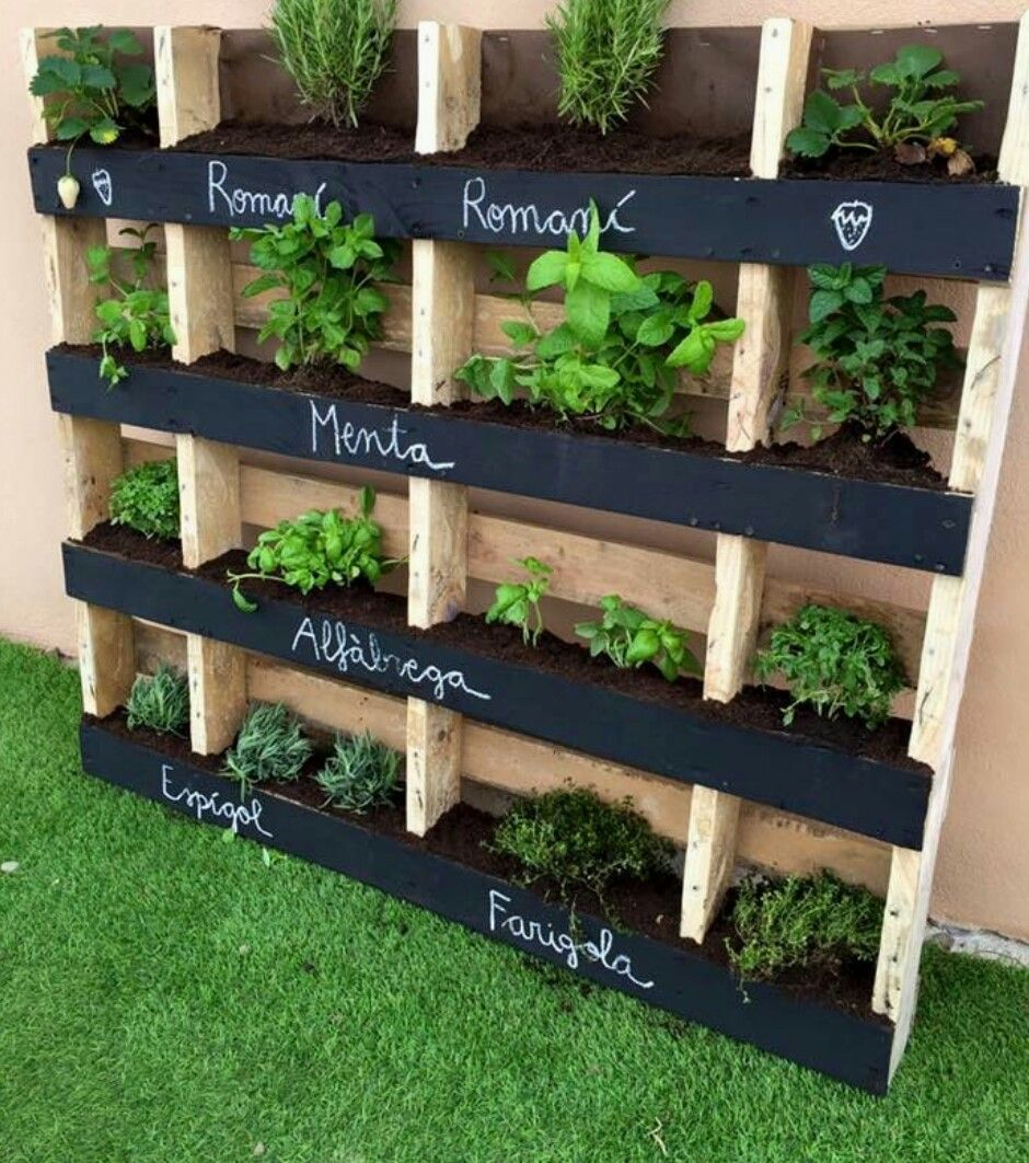 Classy Pallet Garden Is Usual Diy Projects That Come To After Receivingpallet Pallets Are Often Deemed As Wasted Pin By Jodie Pinay On Gardening Pinterest Garden Ideas garden Diy Pallet Herb Garden