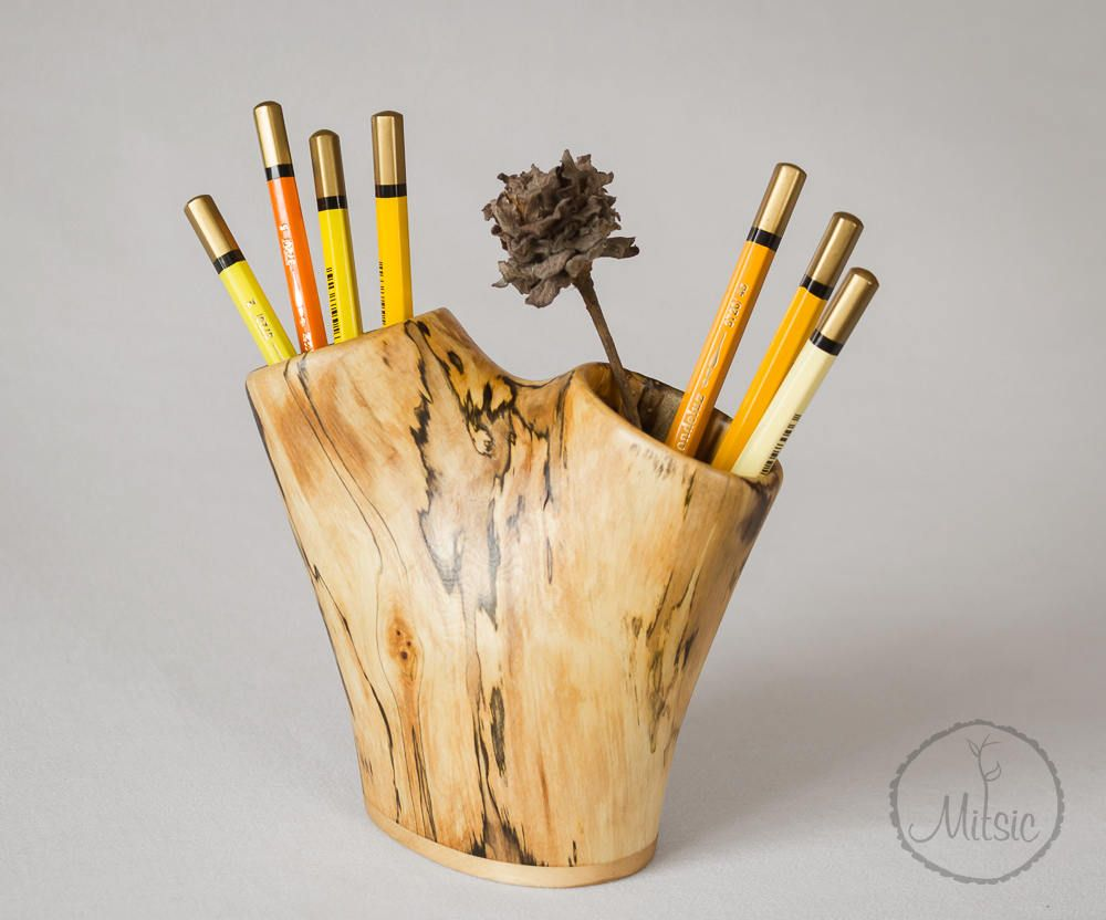 Pencil Holder For Desk Pen Stand Carved In Solid Wood Desk Organizer Table Accessories Pen Holder Wo Pencil Holder Wood Pen Holder Wood Pencil Holder