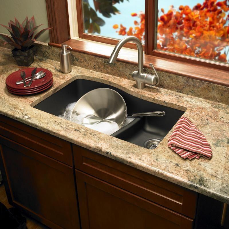 Undermount Granite Kitchen Sink Granite composite sink gallery photos by swanstone forest ave found it at wayfair swanstone granite double bowl kitchen sink workwithnaturefo