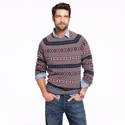 LAMBSWOOL INVERNESS FAIR ISLE SWEATER | Style & Lifestyle. Be Cool ...