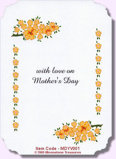 mothers day verse mdyv001 card verses verses