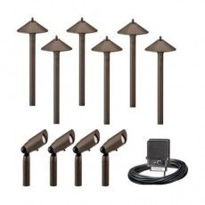 Malibu Outdoor Aged Br Pro Style Light Kit At The Home Depot Mobile