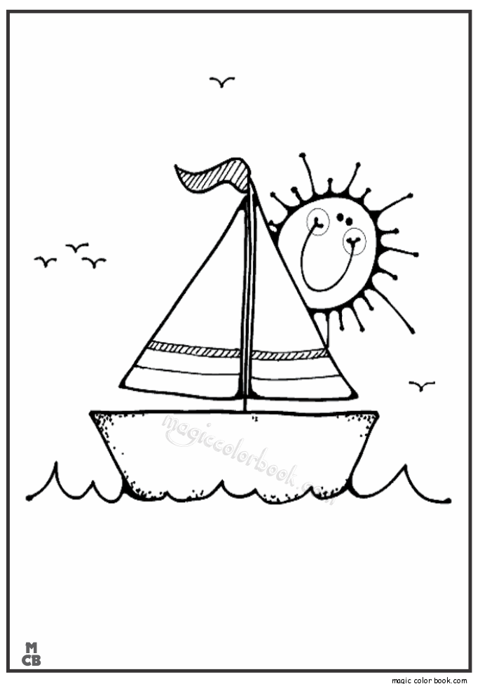 Pin de Magic Color Book en Boats Coloring pages | Pinterest