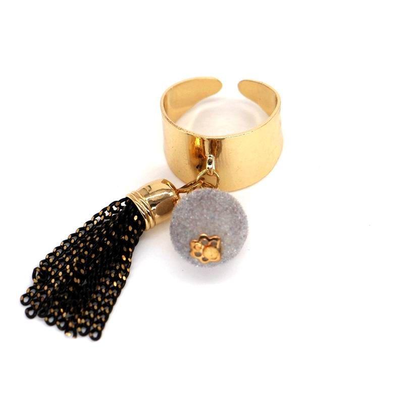 Balle gland anneau large ouvert conception déclaration réglable anneaux pour femmes bijoux 2017 bijoux de mode en gros cadeau