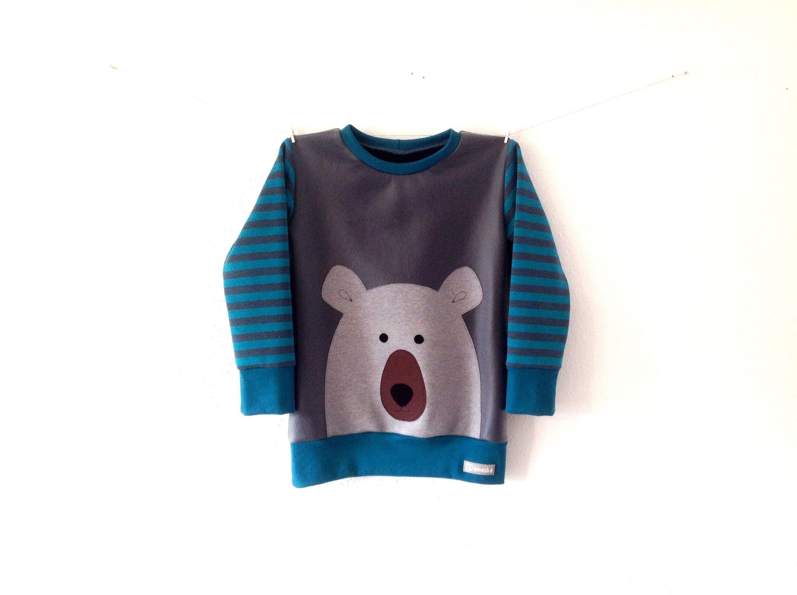 blau Kinder Jungen T-Shirt Pullover Langarmshirt Sweatshirt grau