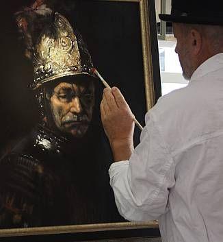 Der Mann Mit Dem Goldhelm Eine Gemalte Kopie In öl Auf Leinwand