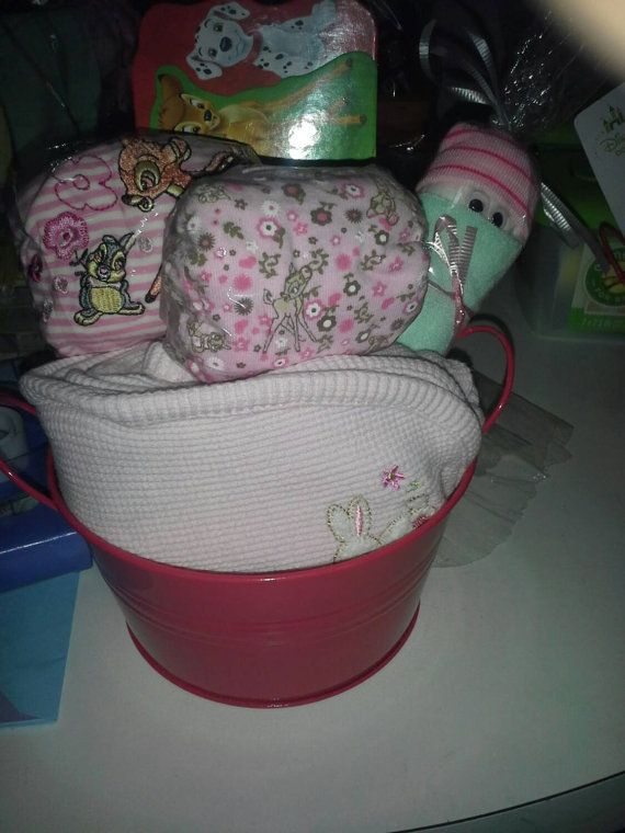 Check out this item in my Etsy shop https://www.etsy.com/listing/198774252/bambi-themed-gift-basket-for-a-baby-girl