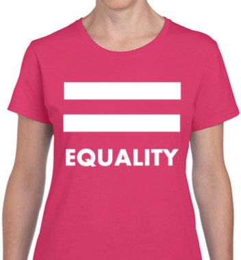 LGBT SHIRT Equality Pride Heliconia Pink T-shirt by ALLGayTees ...