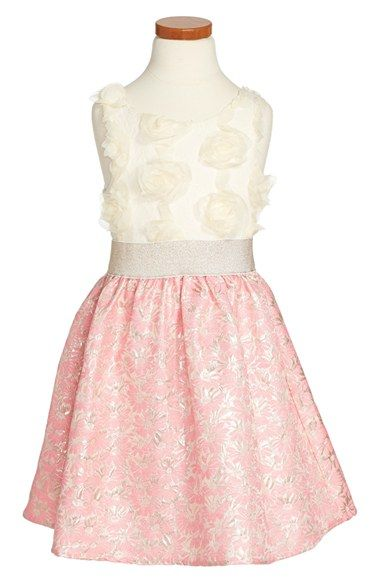 c4fc820f985ae Free shipping and returns on BLUSH by Us Angels Floral Jacquard Dress (Big  Girls) at Nordstrom.com. A fit-and-flare dress pairs a rosette-embellished  bodice ...