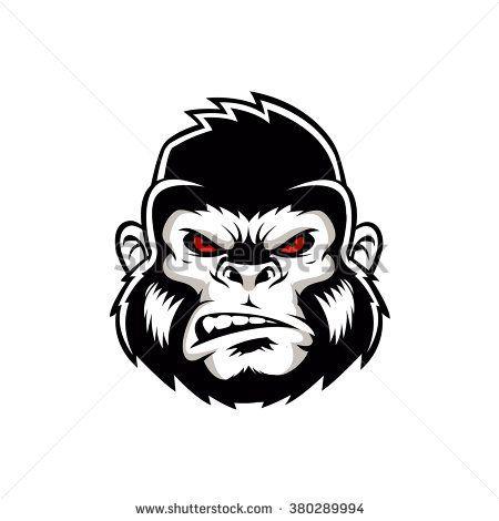 Gorilla head logo vector | Projetos para experimentar ...