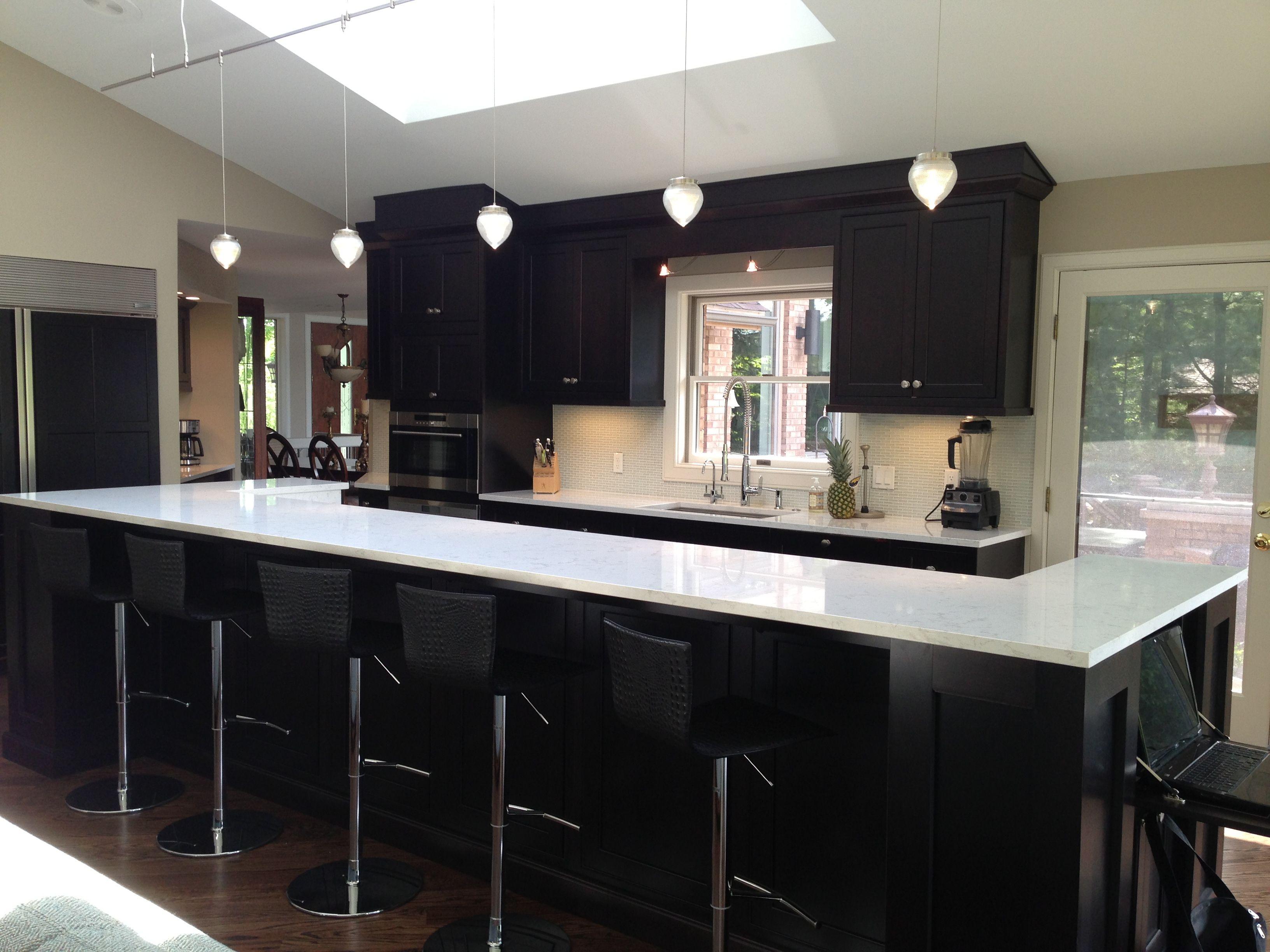 Best Our New Kitchen Espresso Cabinets With Quartz Torquay 400 x 300