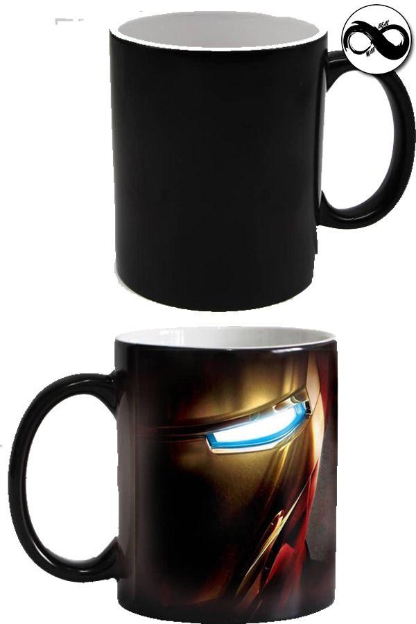 Iron Man New Heat Transfer Color Changing Mug Canecas Compras