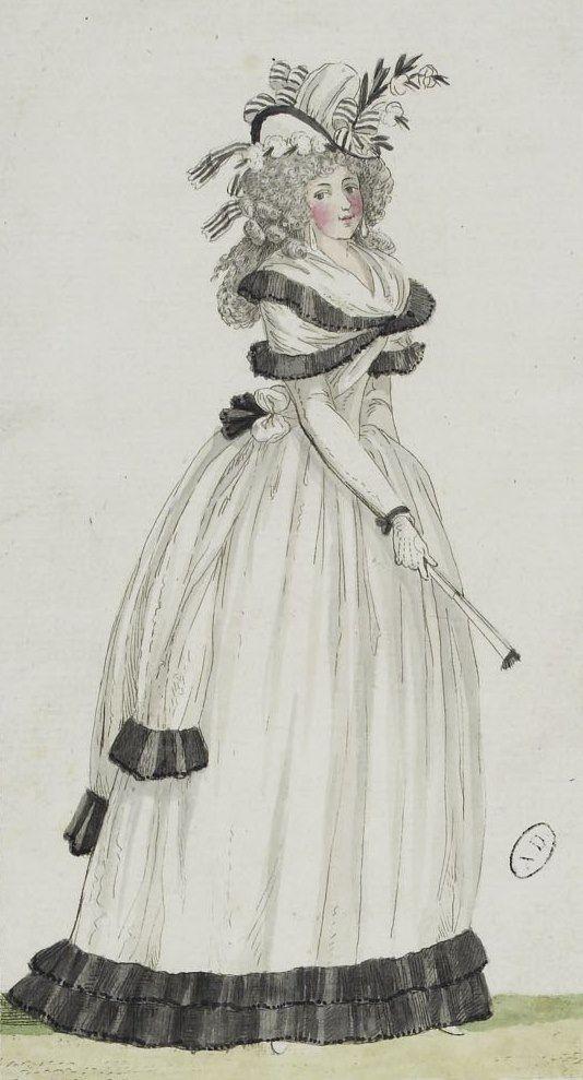 Épinglé par Edwige Pelisser sur 18th c. Fashion 1790's