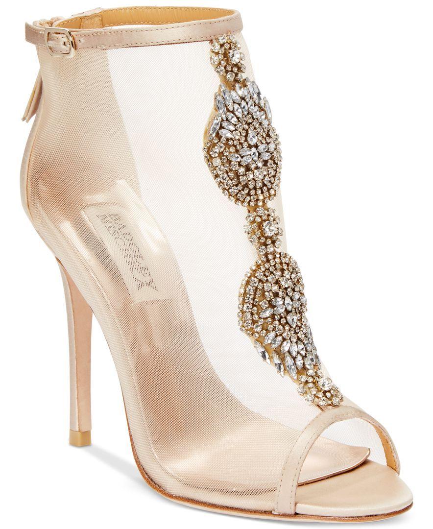 Badgley Mischka Rana Evening Booties - Sandals - Shoes - Macy s ... 44c636882e196