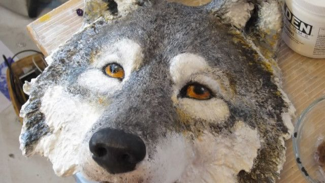 paper mache wolf mask video  Extended paper mache tutorials from