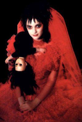 Lydia Deetz in her wedding gown. My favorite idea so far ...