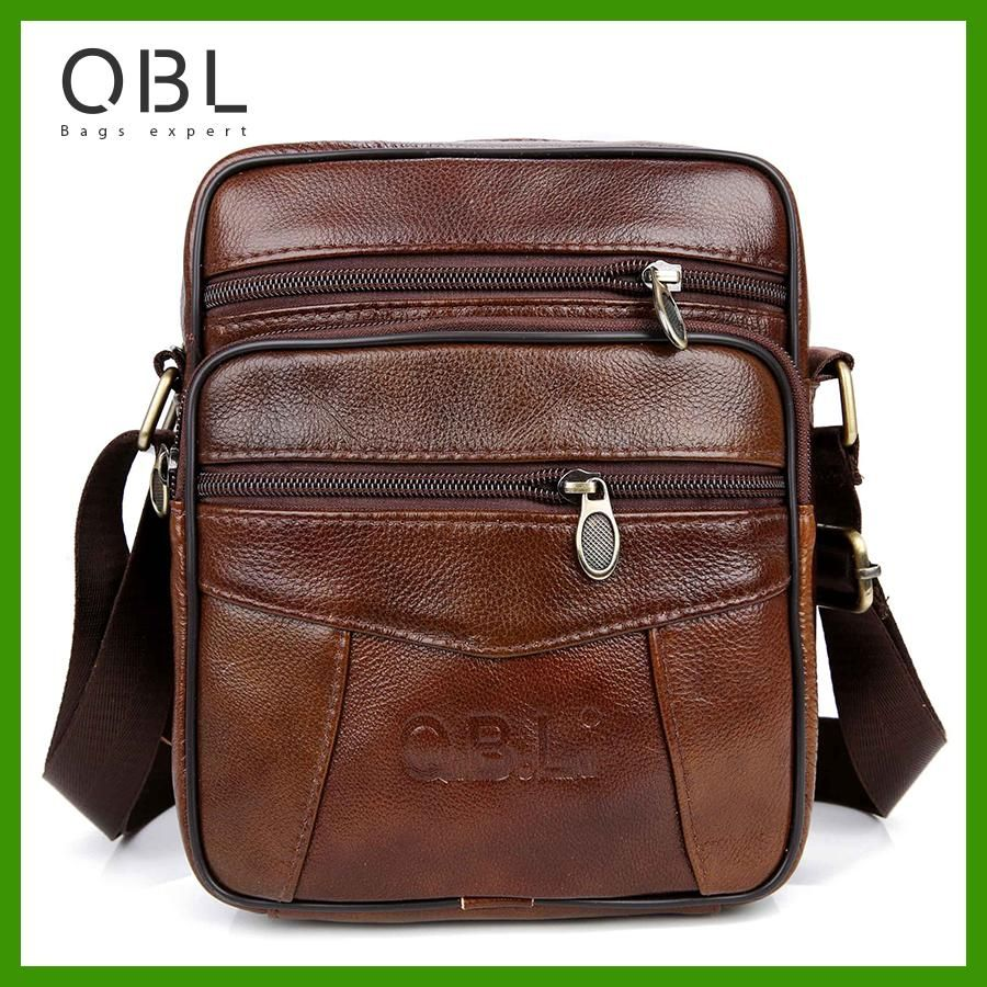 fb2b988cead5 QiBoLu Cow Genuine Leather Messenger Bags Men Travel Business Crossbody  Shoulder Bag for Man Sacoche Homme Bolsa Masculina MBA19
