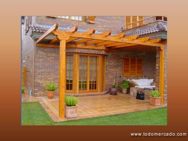 Fotos de roble para cobertizos pergolas quinchos santiago for Cobertizos para terrazas