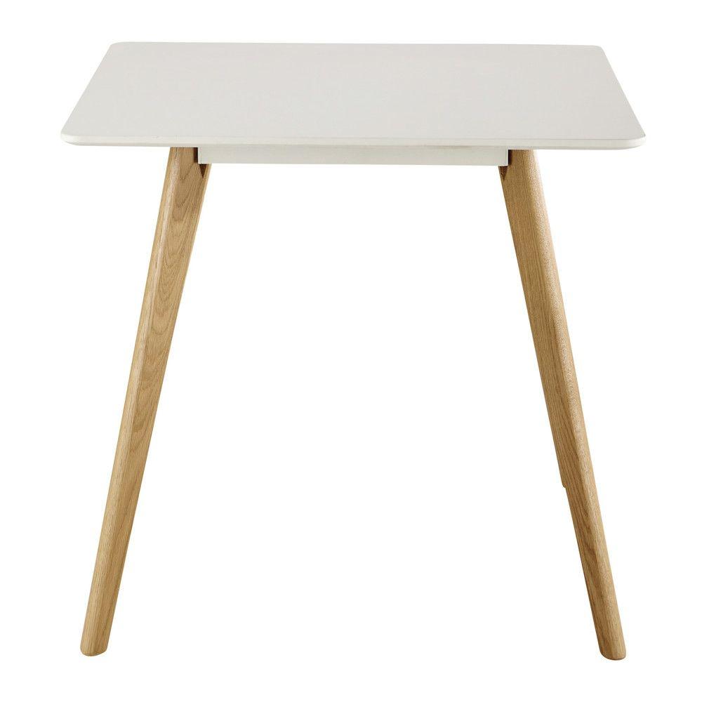 Tavolo quadrato bianco per sala da pranzo 80 cm | Pinterest | Sala ...