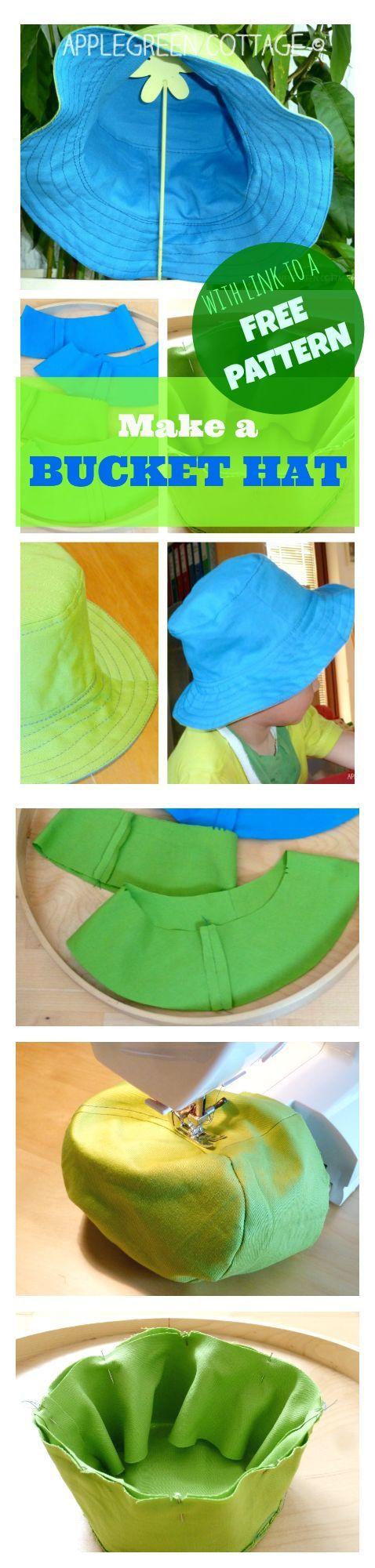 Tutorial: A Cute Bucket Hat | Nähen, Mütze und Nähen für kinder