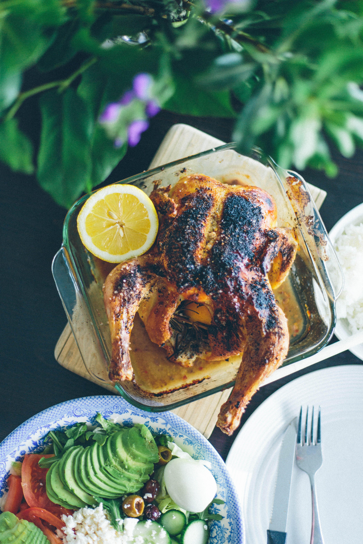 Roast Chicken with Fresh Rosemary and Lemon-20