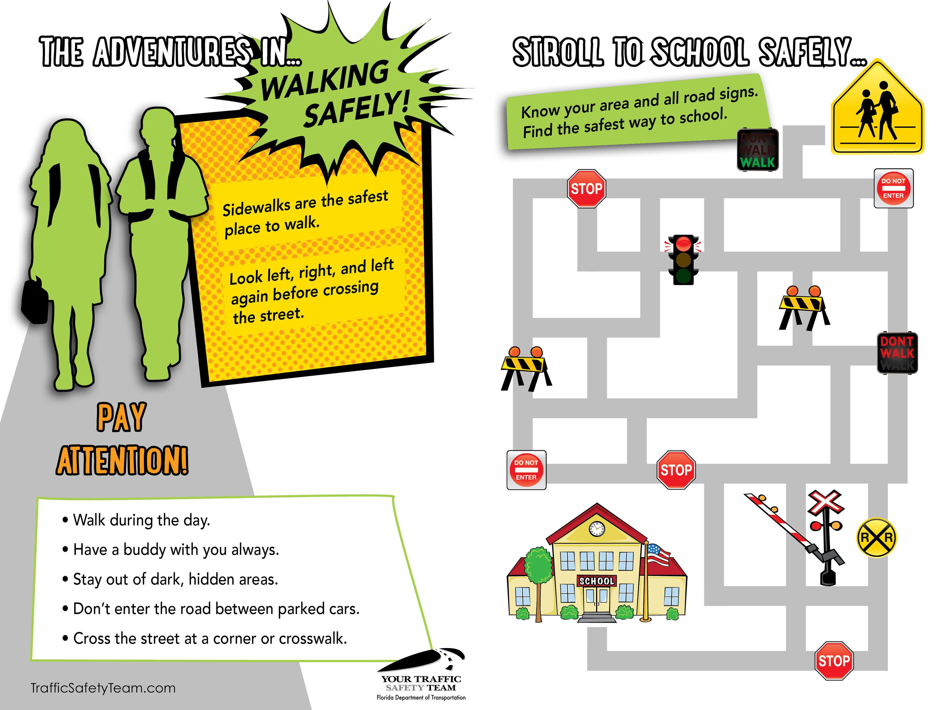 Cool Downloadable Game For Kids Walking Safely From Home