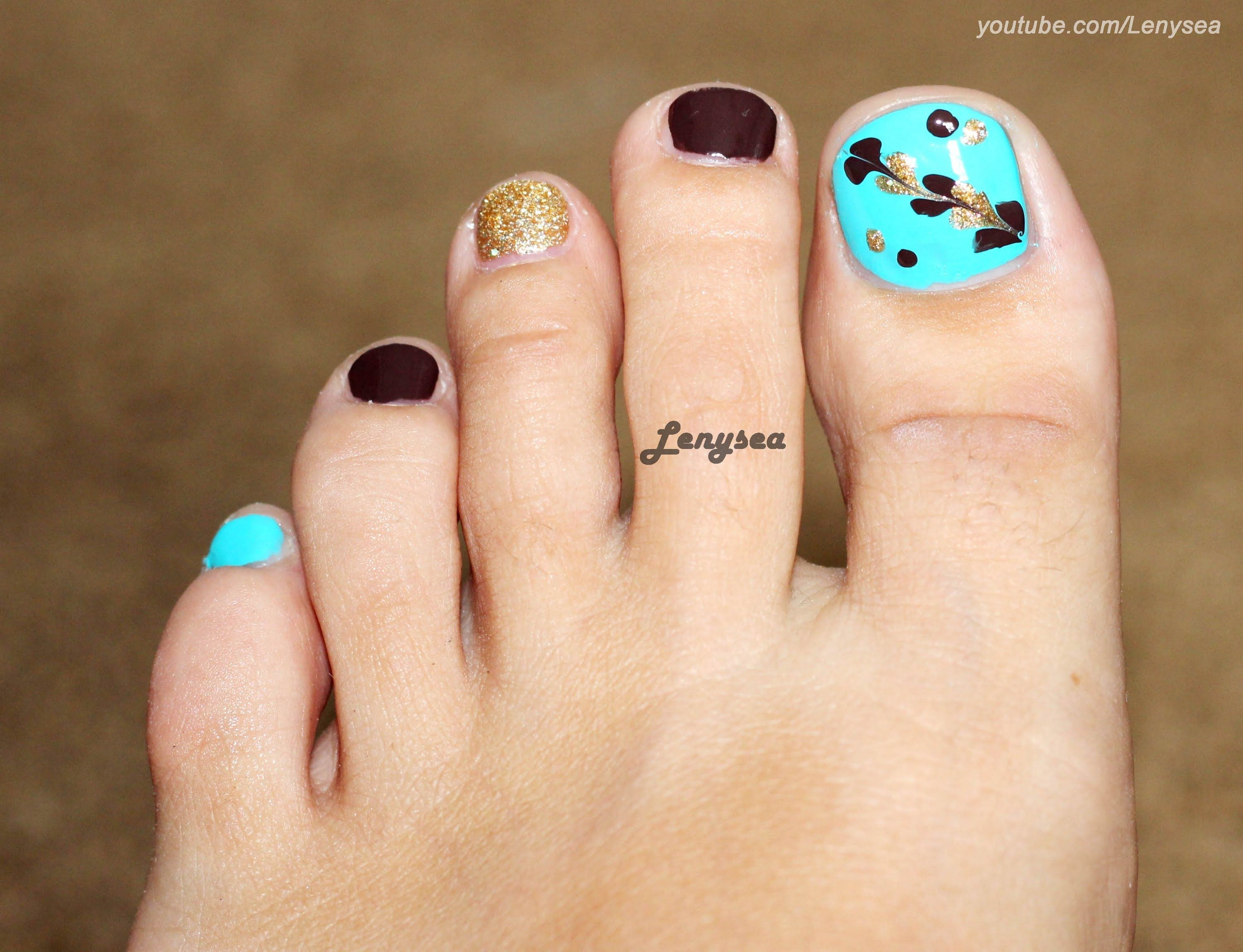 Toe Nail Design For Beginners Marble No Water Tools | Art that i ...