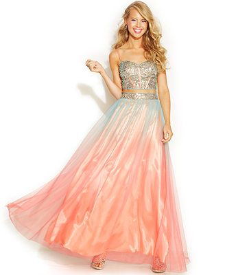blondie nites juniors' twopiece corset gown so pretty