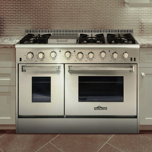 Professional 48 Free Standing Gas Range With Griddle Range Cooker Free Standing Gas Gas Range
