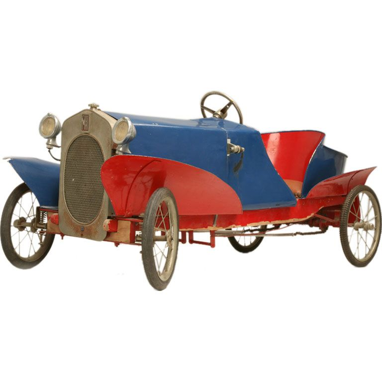 *FRENCH EUREKA MFG. ~ Boattail Fiat Pedal Car Antiques on ...