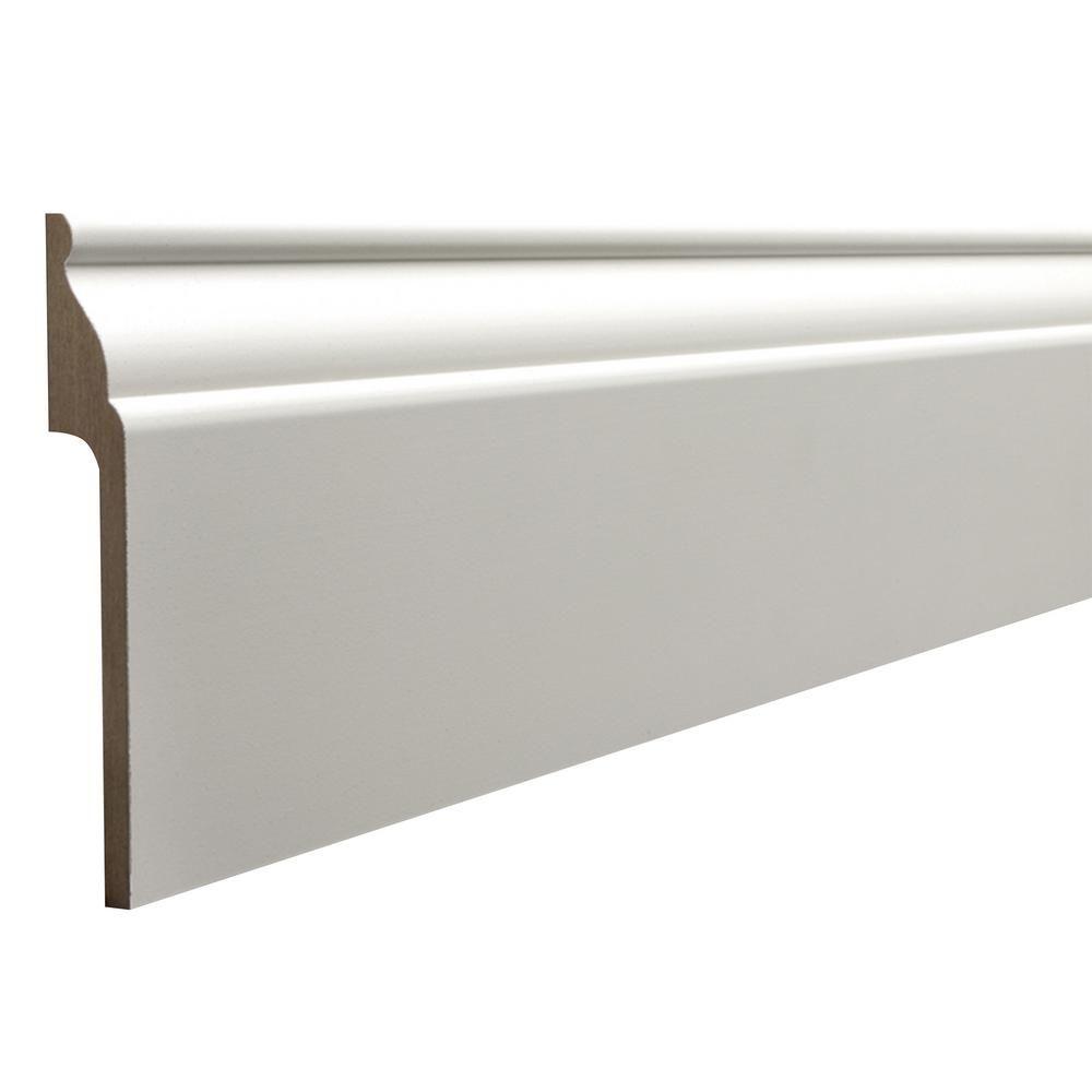 Ornamental Covertrim 7 8 In X 5 1 4 In X 96 In Mdf Baseboard Moulding 1541 8ftmdf The Home Depot In 2020 Baseboards Baseboard Moulding Floor Molding