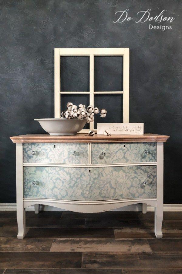 How To Decoupage Furniture Meubles Peints Mobilier De Salon Des Meubles Colores