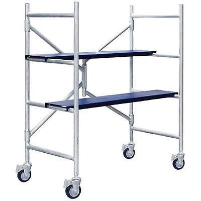 Multipurpose Scaffolding Mini Scaffold Step Ladder Push Cart Work Table Platform Portable Scaffolding Scaffolding Compact Storage