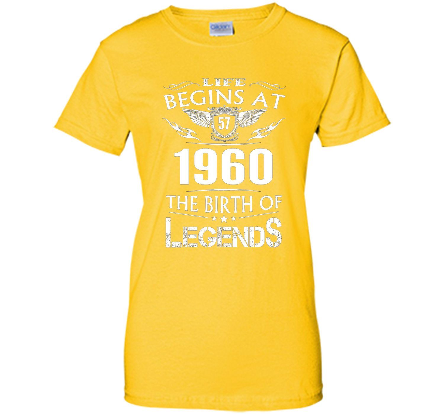 Life Begins At 57 1960 The Birth Of Legends T-Shirt cool shirt