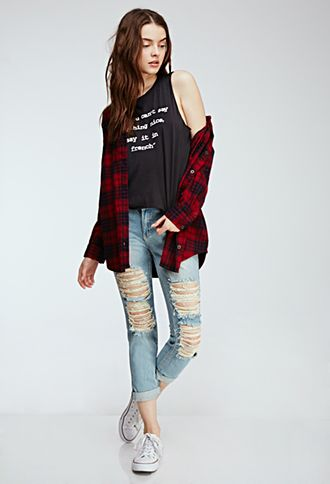Distressed Straight-Leg Jeans | FOREVER21 - 2000134570