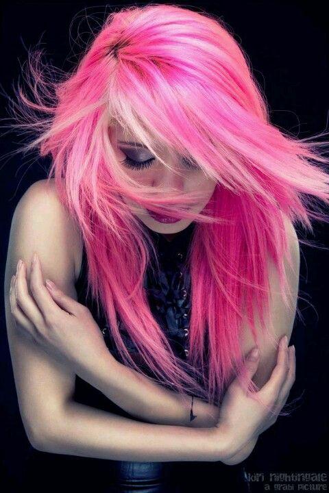 Pink Beautiful Colorful Scene Hair Hair Tattoos Piercings