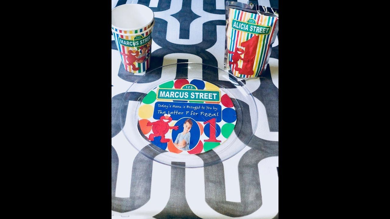 custom party cups party favors diy microsoft publisher elmo