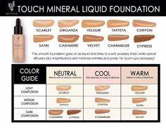 Younique Mineral Touch liquid foundation color matching www.youniqueproducts.com/brittneynguyen1
