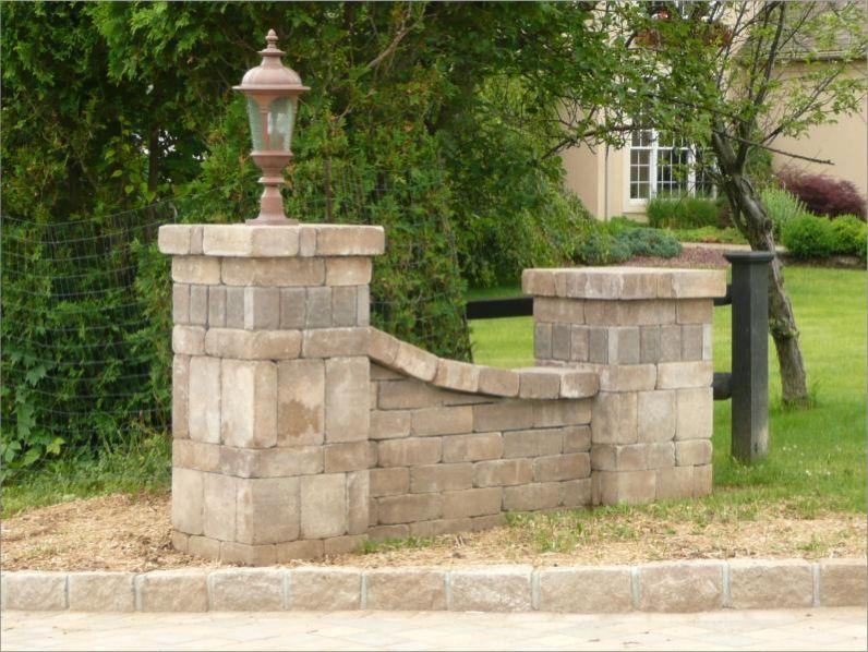 Paver Entry Wing Walls Driveway Entrance Driveway