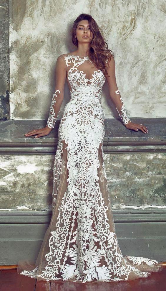 Lacey Mermaid Dress | weiße lange Kleider, Lange kleider und ...