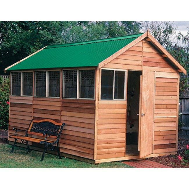 sherbrooke deluxe 25m x 36m gable roof timber shed with 4 windows