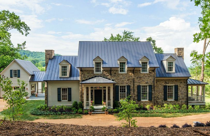 2015 southern living idea house in charlottesville designed by bunny williams - Stone Farmhouse Exteriors