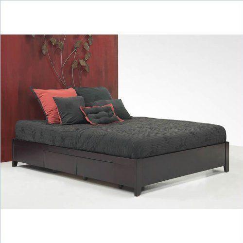 Modus Furniture SP23D5 Simple Queen Platform Storage Bed, Espresso ...
