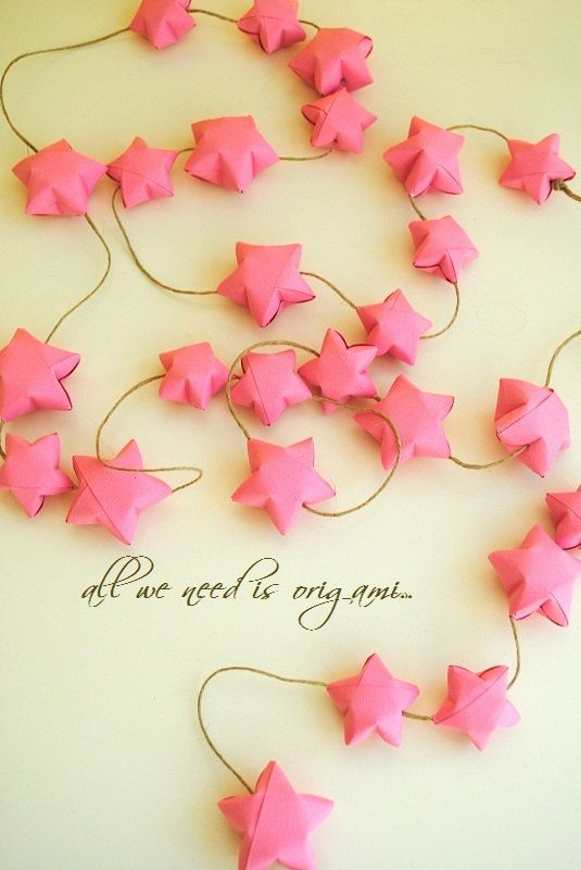 Cherry Blossom Valentines Ornament Decoration Origami Garland By
