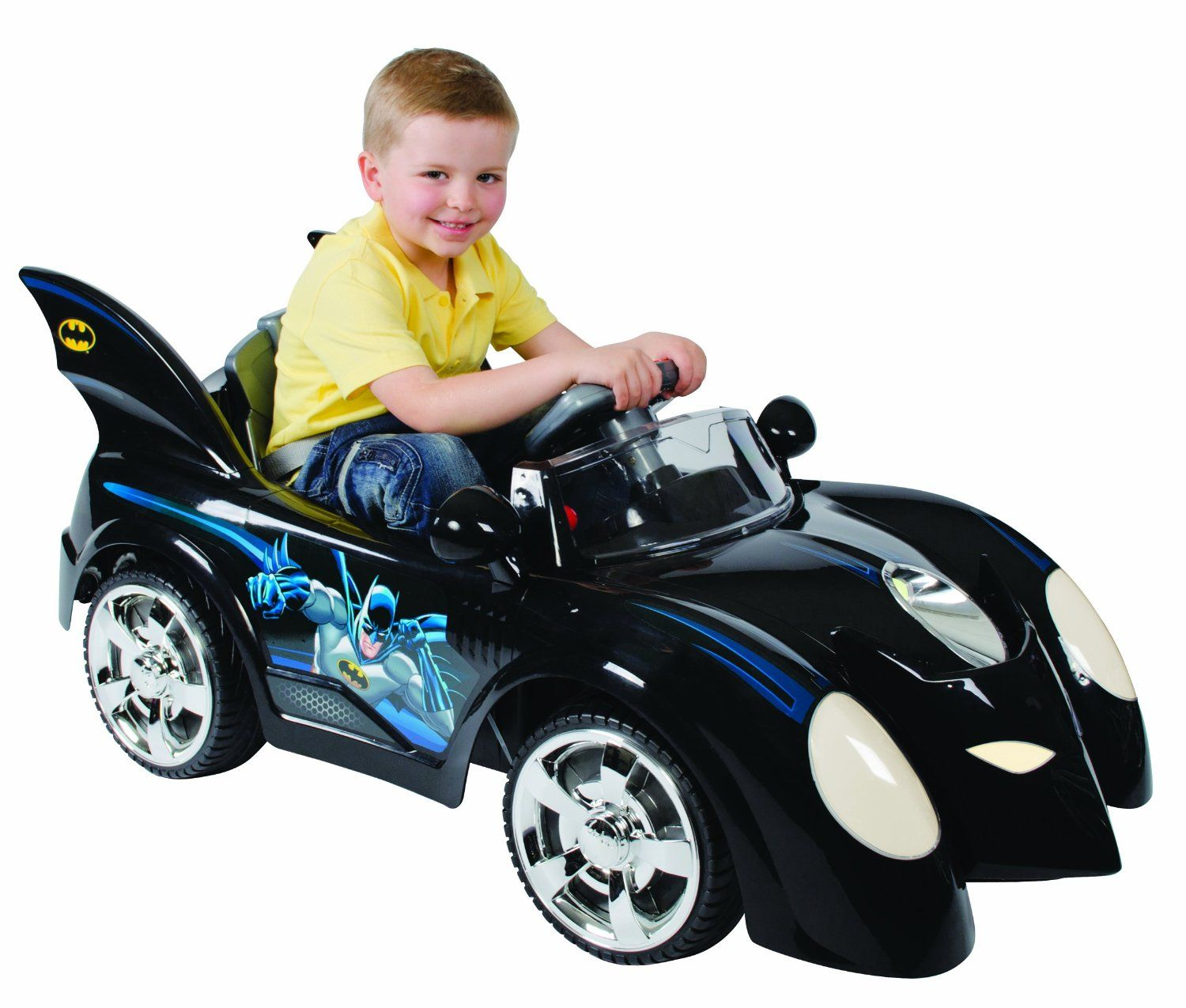 batman batmobile kids 6 volt electric ride on car is pure adam west nostalgia
