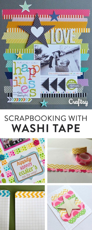 Scrapbooking With Washi Tape 6 Fun Ideas Pinterest Washi Tape