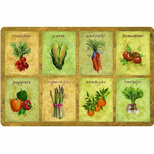 Apache Mills 60 122 0120 22X34 Veggie Panels Kitchen Mat, 22