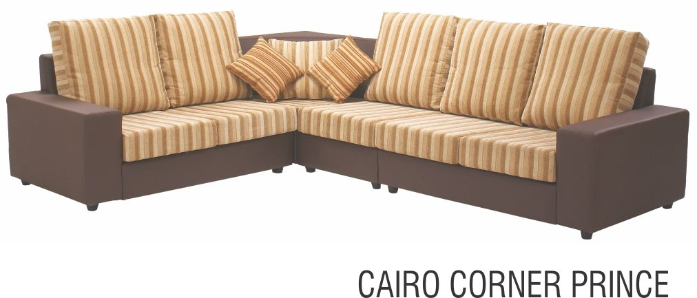Compact Looking Corner Piece Sofa Set Product Collection