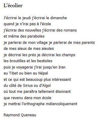Raymond queneau l 39 colier poemes pinterest coli re po mes et le - Ecolier dans la lune ...