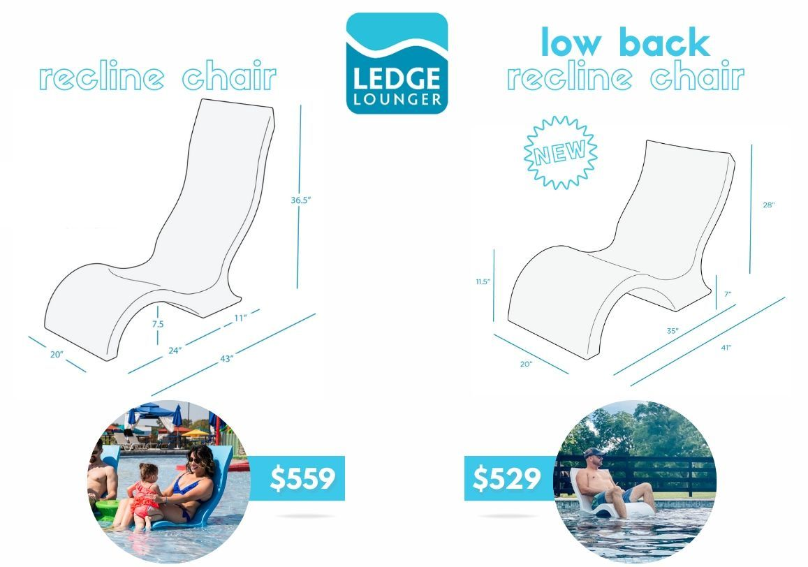 Ledge Lounger 2 Signature Low Backed Tanning Ledge Chairs Set In 2020 Ledge Lounger Tanning Ledge Chairs Lounger